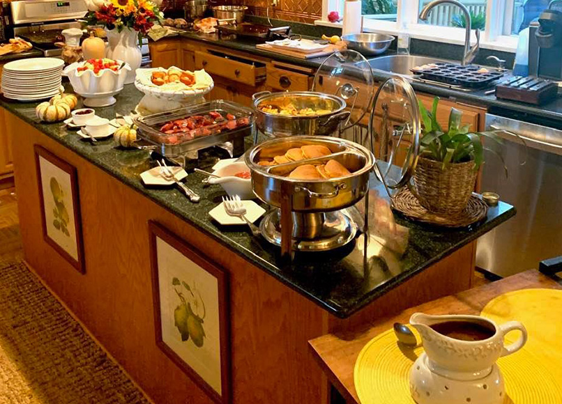 Our Inn Buffet, Magnolia Place Bed & Breakfast, Finger Lakes, NY