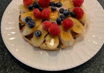 Banana waffle, Magnolia Place Bed & Breakfast, Finger Lakes, NY