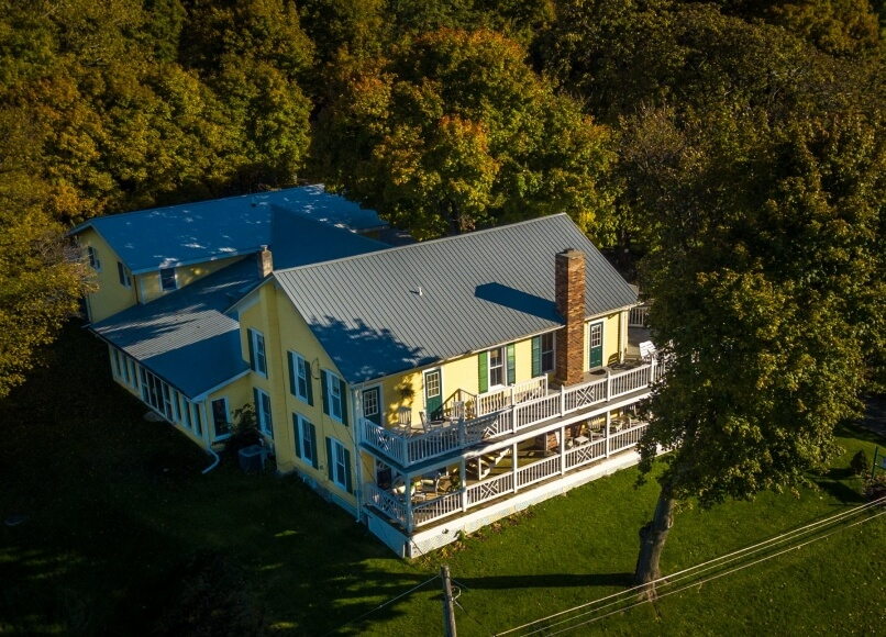 Drone Pic North, Magnolia Place Bed & Breakfast, Finger Lakes, NY