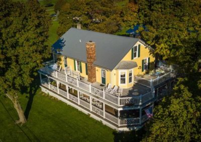 Drone Pic South, Magnolia Place Bed & Breakfast, Finger Lakes, NY
