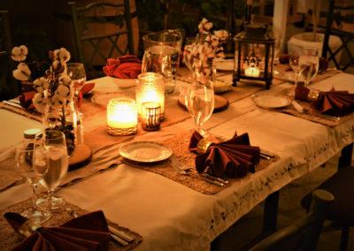 Garden Dinner, Magnolia Place Bed & Breakfast, Finger Lakes, NY