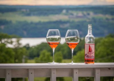 Outdoor Wine, Magnolia Place Bed & Breakfast, Finger Lakes, NY
